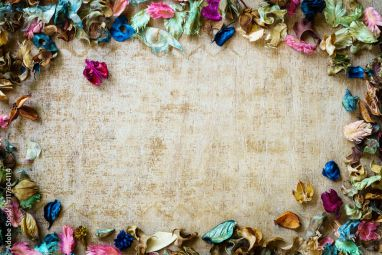 Aromatherapy Potpourri Mix Of Dried Aromatic Flowers On Wooden B 117604114 Landscape Wallpaper